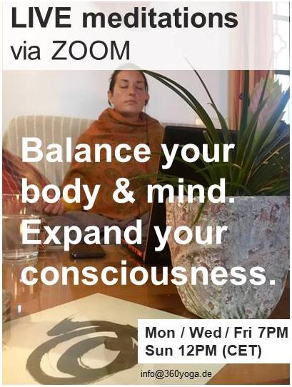 LIVE Meditationen via Zoom